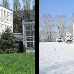 Szkoła latem i zimą