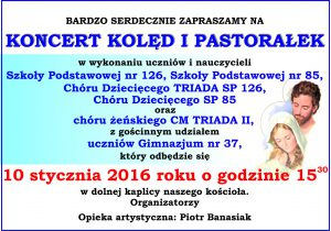 zaproszenie koncert kolęd 2016w2a