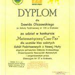 """24-05-2016 r. – Powiatowy Konkurs """"MATEMATYCZNY CZAR PAR"""""""