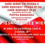 """20-11-2016 r. – Koncert patriotyczny """"Z pieśnią przez wieki"""""""