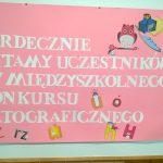 30-11-2016 r. – XIV Międzyszkolny Konkurs Ortograficzny
