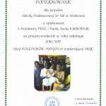 Podziękowanie dla s. Kazimiery Perz i p. Anety Karbownik za akcję Kolędnicy Misyjni