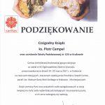 Podziękowanie dla ks. Piotra Cempla za udział w XII Ogólnopolskiej Zbiórce Żywności