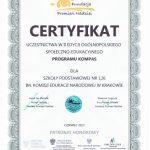 Certyfikat Programu Kompas