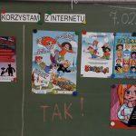 """07-02-2019 r. – p. E. Bazan – klasa 3 b – zajęcia """"Jak bezpiecznie korzystać z Internetu?"""""""